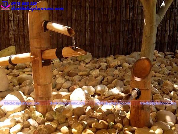 Cách làm đài phun nước bằng tre 10