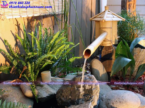Cách làm đài phun nước bằng tre 11