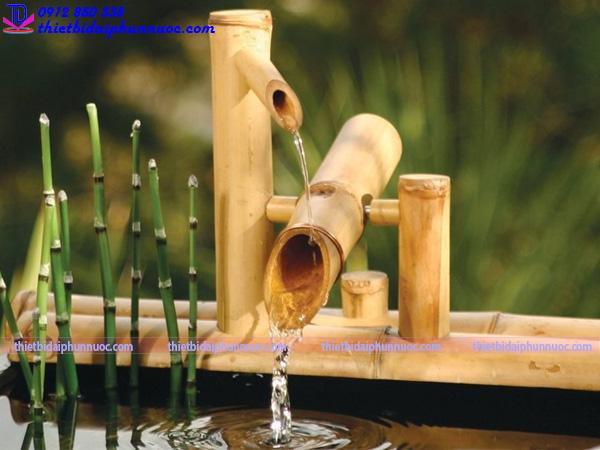 Cách làm đài phun nước bằng tre 3