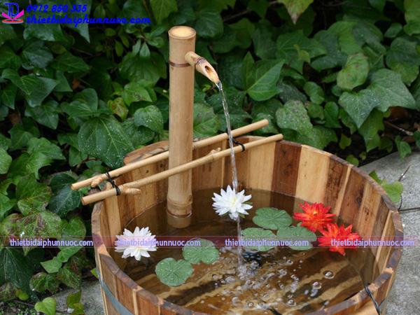 Cách làm đài phun nước bằng tre 4
