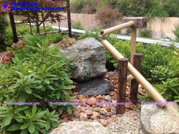 Cách làm đài phun nước bằng tre 5
