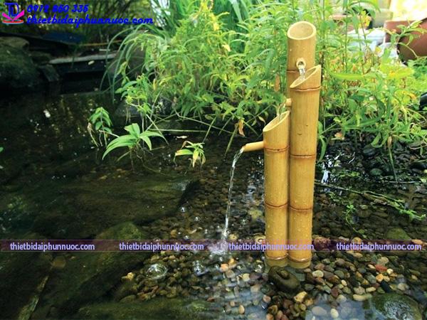 Cách làm đài phun nước bằng tre 6