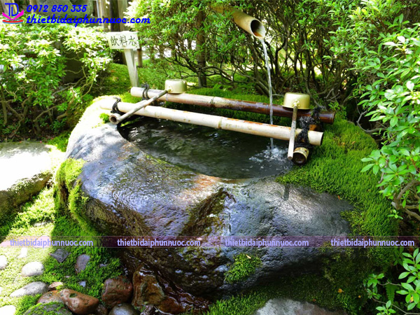 Cách làm đài phun nước bằng tre 7