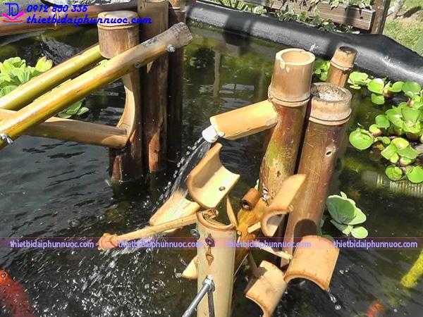 Cách làm đài phun nước bằng tre 9