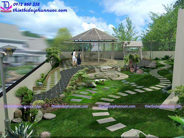 Thi công sân vườn tiểu cảnh 7