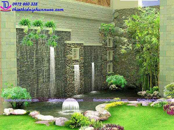 Tiểu cảnh sân vườn kết hợp thác nước mini 11