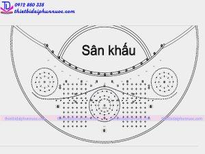 Thiết kế bản vẽ Autocad nhạc nước