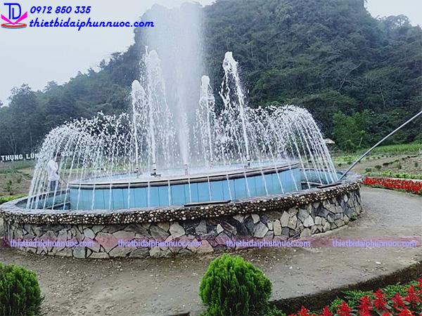 Cải tạo đài phun nước thung lũng hoa Cẩm Thủy 1