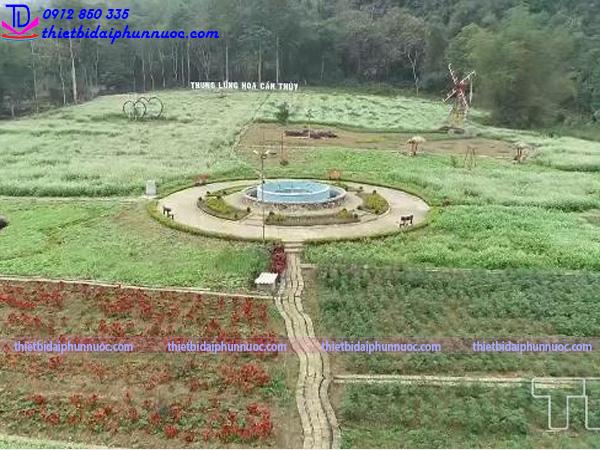 Cải tạo đài phun nước thung lũng hoa Cẩm Thủy 2
