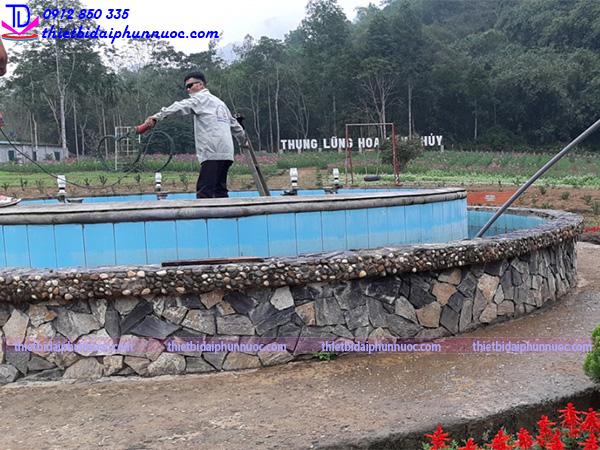 Cải tạo đài phun nước thung lũng hoa Cẩm Thủy 3