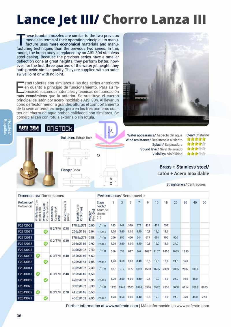 Vòi phun cột nước lớn III 5