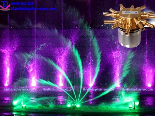 Vòi phun quay tự động tạo xoáy nước 3