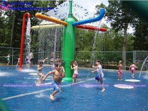 Sân chơi phun nước cho công viên 10