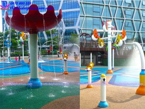 Sân chơi phun nước cho công viên 14
