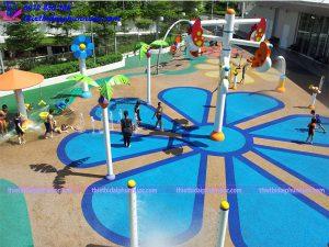Sân chơi phun nước cho công viên 15