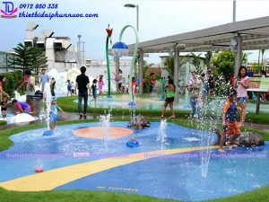 Sân chơi phun nước cho công viên 2