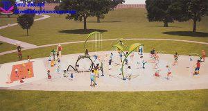 Sân chơi phun nước cho công viên 3