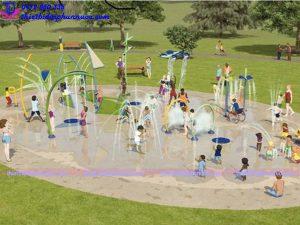 Sân chơi phun nước cho công viên 5