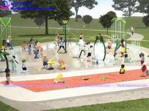Sân chơi phun nước cho công viên 9