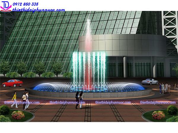 Thiết kế nhạc nước bể hình tròn 4