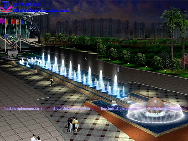 Thiết kế nhạc nước quảng trường 10