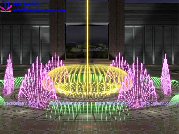 Thiết kế nhạc nước quảng trường 4
