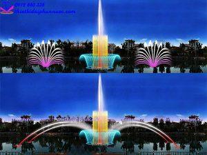 Thiết kế nhạc nước phao nổi cho sông hồ 2